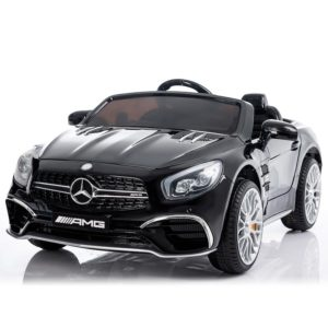 Front of Black Mercedes SL65 AMG Ride On Car