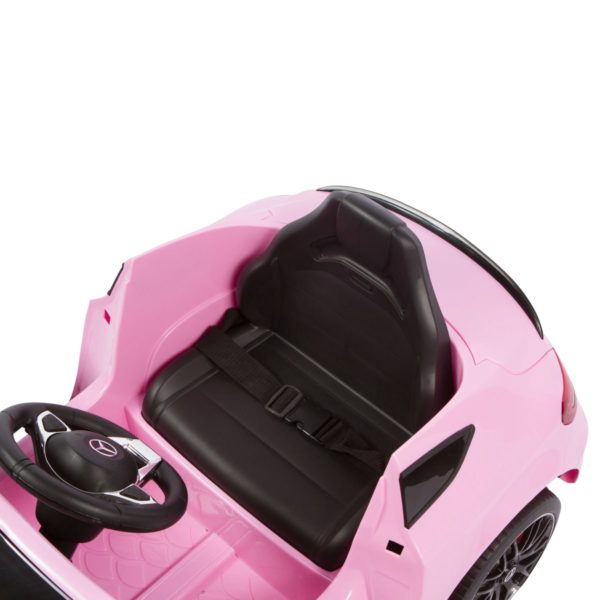 seat size of pink c63 ride on car for kids
