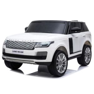 kids ride on car range rover land rover 2 seater white with remote control